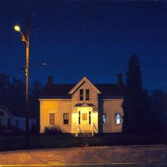 Linden Frederick. Oil on canvas, photorealism. Slightly eerie.