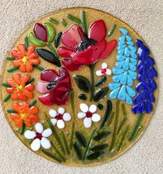 Fused glass - flowers