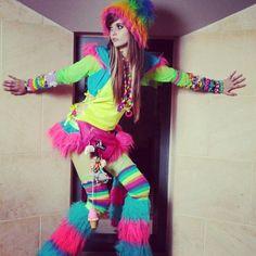 Neon Leg Warmers Festival Clubbing Ballet 80s 90s Rave Disco Fancy Dress Costume