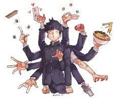 Kageyama shigeo Manhwa, Anime Manga, Anime Art, Mob Physco 100, Mob Psycho 100 Anime, Ichimatsu, Cool Animations, Kageyama, One Punch Man