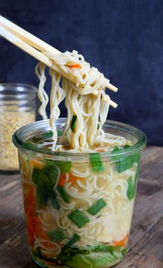 Skip the ramen packets and make a fresh cup of soup with this recipe.