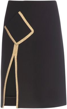 Yves Saint Laurent Silk Crepe A-line Skirt