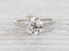 1.90 Carat Edwardian Vintage Engagement Ring || Erstwhile