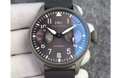 "IWC BIG PILOT ""PATROUILLE SUISSE"" REAL PR SS ZF BEST EDITION GRAY DIAL ON NYLON LEATHER STRAP A51111"