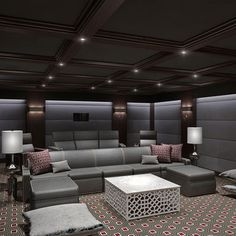 Elegant Media Room Design Ideas, Pictures, Remodel And Decor