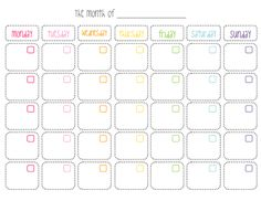 Calendario mensual e