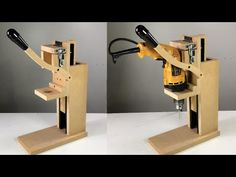 Cool Woodworking Table - Famous Tutorial and Ideas Woodworking Techniques, Woodworking Projects Diy, Woodworking Bench, Diy Wood Projects, Homemade Drill Press, Homemade Tools, Diy Tools, Useful Life Hacks, Paleo