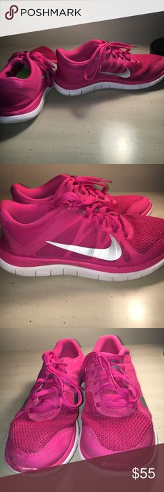 Nike Free Run 4.0 Shoes Super cute work out shoes, in good condition! Does have some wear but in pretty good condition! Nike Shoes Athletic Shoes