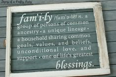 Diary of a Crafty Lady - vinyl decal on old window - via Remodelaholic A Bible verse would also be lovely.