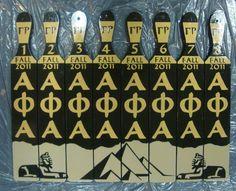 Alpha Phi Alpha line paddles