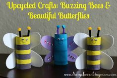 Upcycled Bee & Butterfly Craft