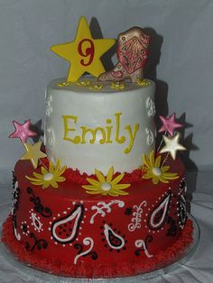 Cowgirl Birthday Cake