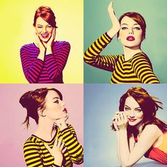"""I think I was drawn to comedy originally because when I was really young, by… Emma Stone, Most Beautiful Women, Beautiful People, Woman Crush, Girl Crushes, Pin Up, Celebs, Photoshoot, Muse"