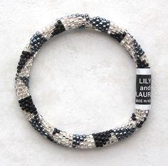 Black, Silver and Hematite Tribal