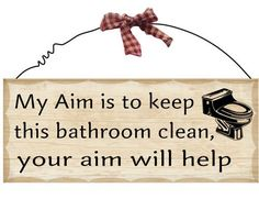 Bathroom Decorative Wooden Plaque by CountryCandleStore on Etsy, $9.99