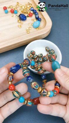 Jewelry Tools, Ear Jewelry, Jewelry Crafts, Beaded Jewelry, Beaded Bracelets, Jewellery, Handmade Wire Jewelry, Handmade Necklaces, Handmade Beads