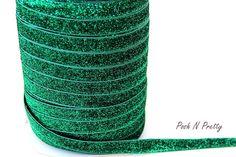 5/8 Glitter Stretch Velvet Elastic 5 YARDS  NO por PoshNPretty