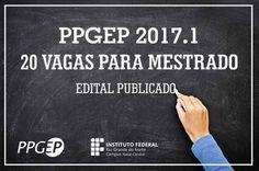 Publicado edital para seleção de alunos para o Mestrado em Educação Profissional