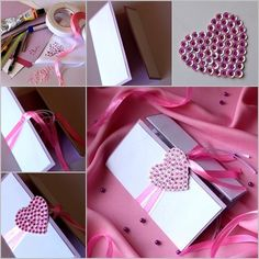147 best paper crafts images on pinterest paper bead jewelry make diy beautiful greeting card with sequined heart m4hsunfo