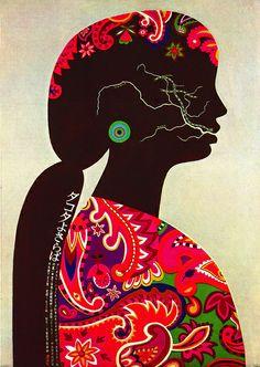 Yasuo Shigehara Illustration, Japan 1960s