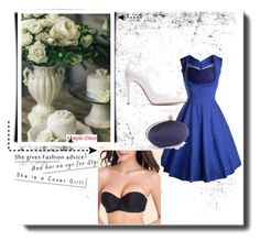 """""""Simpledress21"""" by gold-phoenix ❤ liked on Polyvore featuring Gianvito Rossi and vintage"""