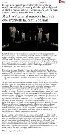Alguer.it, 12 febbraio 2015 #laureatiAaA #architettura #MontePrama