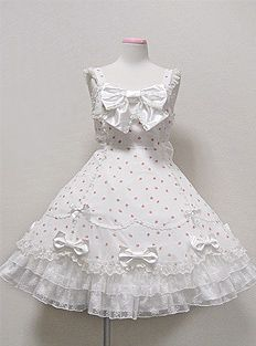 Angelic Pretty, Romance Rose JSK, White or Pink