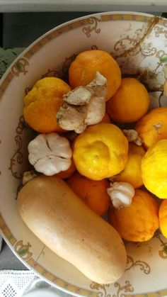Lemons, butternuts, garlic and ginger Garlic, Fruit, Food, Meal, Essen