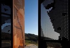 Nice punctured steel cladding. Prefab House in Cedeira. Architect: MYCC