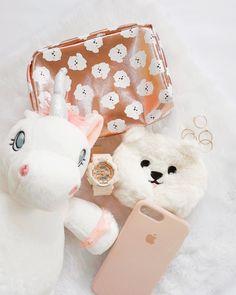 #unicorn #maltese #fluffy #fur #flatlay #iphonecase #gshock #watch #pastel #pink G Shock, How To Look Pretty, Pretty In Pink, Baby G, Maltese, Pastel Pink, Unicorn, Fur, Watch