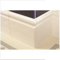 White Gloss Dado Border Tile 5x15cm Bathroom Pinterest Tile And Border Tiles