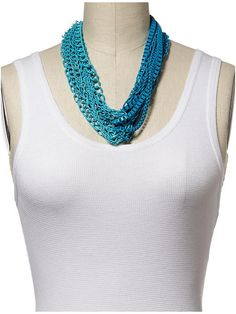 Piperlime | Turquoise and Blue Large Chain Link Necklace