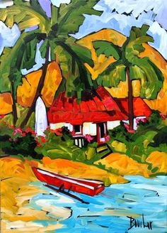 Down By The Water by Marie-Claude Boucher at Crescent Hill Gallery