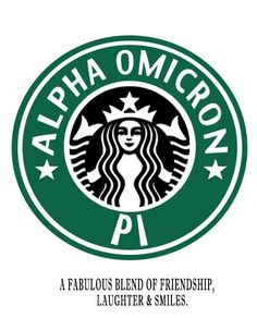 Two of my favorite things...  AOII & Starbucks Coffee...  :)