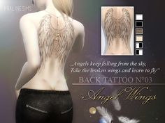 Sims 4 CC's - The Best: Tattoos by Pralinesims