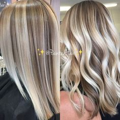✨❤♀️platinum creme and sandalwood toned ✨paintedhair✨straight and waved ❤ painted with the finest cool toned blonde mixed with balayage clay lighter for my paint using my brushes of course ❤️ p s my client has b Hair Color For Women, Hair Color And Cut, Hair Colour, Pretty Hairstyles, Curled Hairstyles, Hairdos, Straight Hairstyles, 50 Hair, Curly Hair