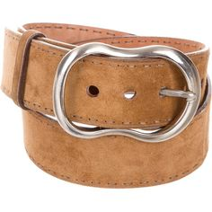 Pre-owned Prada Wide Suede Belt ($75) ❤ liked on Polyvore featuring accessories, belts, brown, wide belts, prada belt, prada, wide brown belt and brown belt