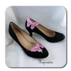 CLIPS CHAUSSURES PAPILLONS SOIE - MAEVA - Boutique www.magicreation.fr