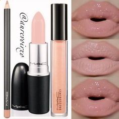 The perfect nude lip! (Middle photo is without gloss.) Lip Liner: Mac - Subculture Lipstick: Mac - Well-Loved (ASIA exclusive) ✨Dazzleglass: Mac - Bare Necessity - by fee_m Mac Makeup, Love Makeup, Skin Makeup, Makeup Tips, Makeup Eyeshadow, Lipstick Colors, Lip Colors, Lipstick Mac, Beauty Makeup