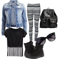 School daze! by livvie47 on Polyvore featuring polyvore, fashion, style, VILA, Ally Fashion, Converse and Coach