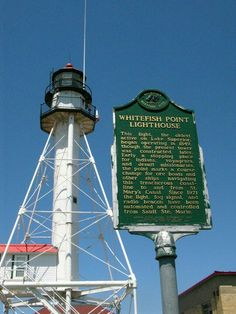 Lighthouse at Whitefish Point.. The Edmund Fitzgerald sank off this place Nov.10 1975 during a vicious storm on Lake Superior.