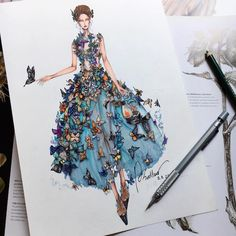 Art on dress
