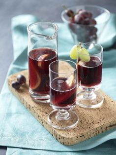 San Joaquin Sangria.  This classic fruit and wine punch is wonderful garnished with clusters of crowd-pleasing California grapes.