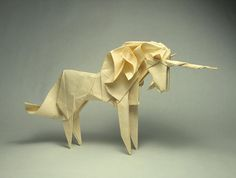 To know more about Origami Roman Origami Unicorn , visit Sumally, a social network that gathers together all the wanted things in the world! Featuring over 1 other Origami Roman items too! Origami And Kirigami, Origami Paper Art, Oragami, Napkin Origami, Fabric Origami, Origami Design, Origami Giraffe, Origami Birds, Origami Paloma