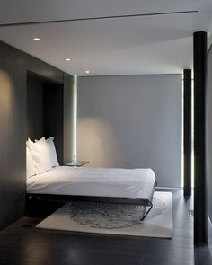 stylish and minimalist bedroom - Hufft Projects