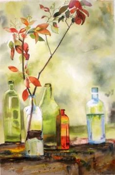 Fall+Inspiration+still+life,+painting+by+artist+Kay+Smith