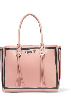 ee50ad1b461620 Lanvin Blush and black leather (Calf) Hook-fastening tab at open top Comes  with dust bag Weighs approximately Made in Italy
