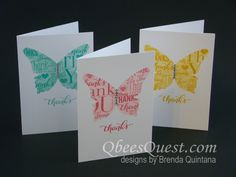 Masked Butterfly Note Cards by Qbee - Cards and Paper Crafts at Splitcoaststampers