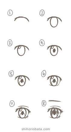 Art Drawings Sketches Simple, Pencil Art Drawings, Cute Drawings, Easy Cartoon Drawings, Sketch Art, Anime Sketch, How To Draw Anime Eyes, Anime Eyes Drawing, Learn To Draw Anime