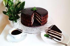 Bezglutenowy tort czekoladowo-miętowy z mąki kokosowej Gluten Free, Pudding, Cake, Recipes, Food, Glutenfree, Custard Pudding, Kuchen, Essen